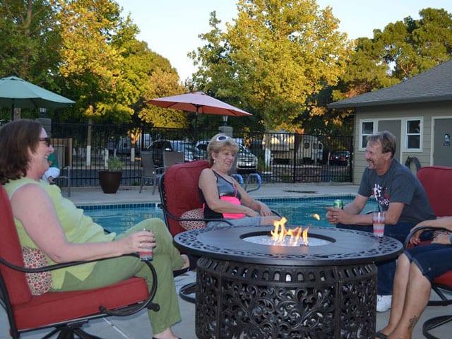 Poolside Firepit