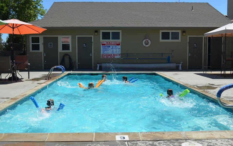 Kids love the pool