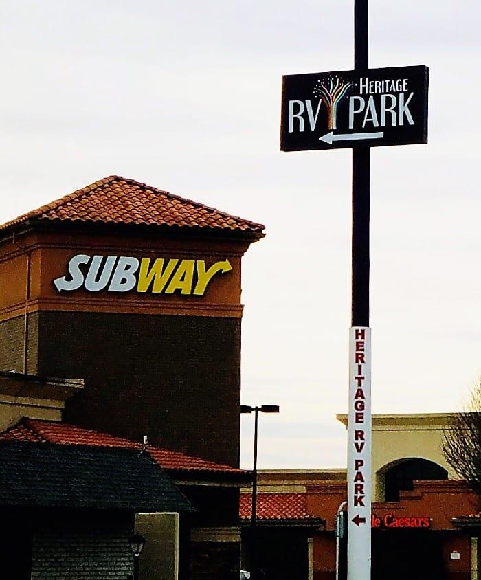 HRV sign at Heritage Square entrance